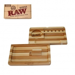 RAW Limited Edition Striped Bamboo Backflip Rolling Tray